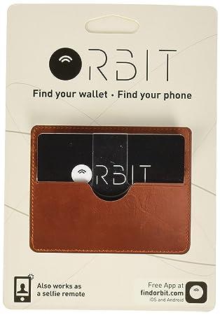 Orbit Card - Cartera Impermeable con GPS y batería Recargable, Color Negro
