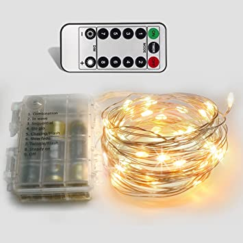 Amazon.com : Homeleo 10M 100LED Battery Powered LED String Lights ...
