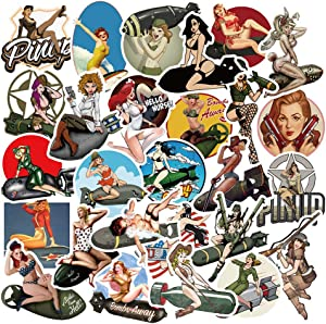 50 Pcs Popular Pinup Hot Girl Stickers for Teens Adults Boys Girls,Funny Aesthetic Waterproof Vinyl Stickers Pack for Waterbottle MacBook Car Waterbottle Travel Luggage Case Cup Laptop Phone Bike.
