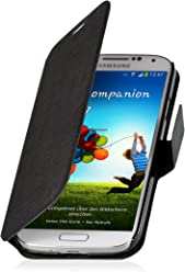 Custodia esclusiva Stilgut UltraSlim in similpelle lavorata a mano con funzione di supporto per Samsung Galaxy S4 i9500 - nero