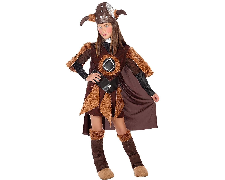 Atosa - 95635 - Disfraz de niña - Viking - Talla 1: Amazon.es ...