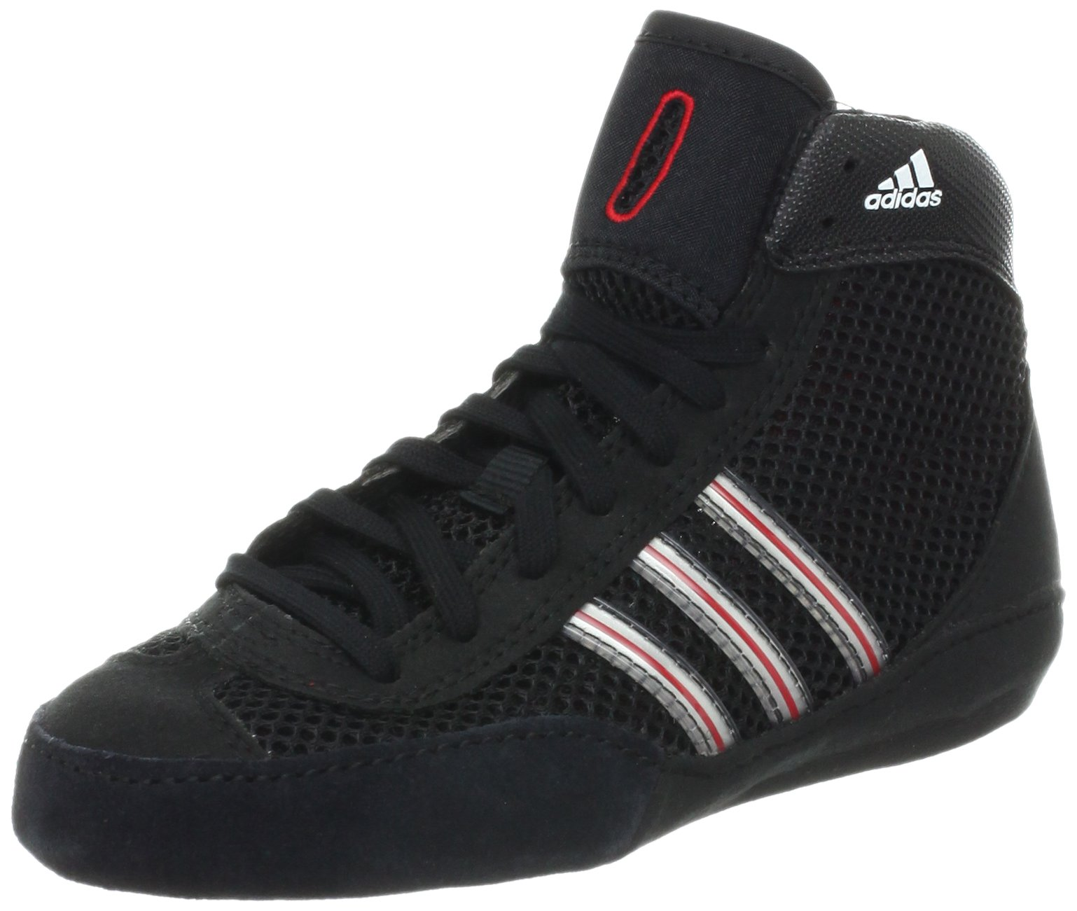 adidas Wrestling Combat Speed III K Wrestling Shoe (Toddler/Little Kid/Bid Kid),Black/Core Energy/Metallic Silver,2.5 M US Little Kid