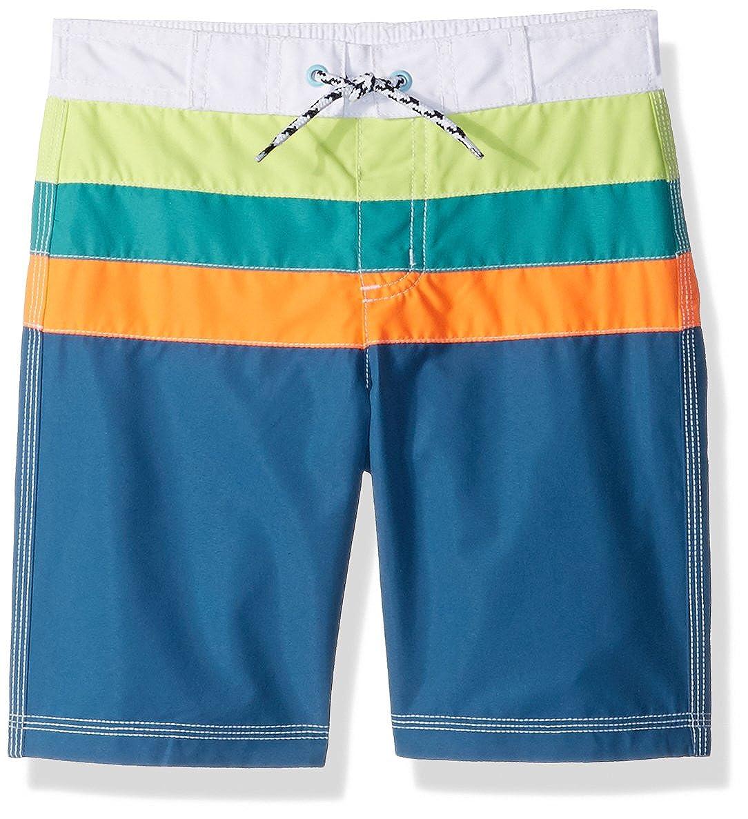 Gymboree Toddler Boys' Colorblock Swim Trunks Pool Blue 12-18 Mo 241821797