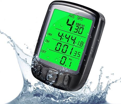 Mountain Bike Bicycle Bike Waterproof LCD Meter Pedometer Speedometer Odometer