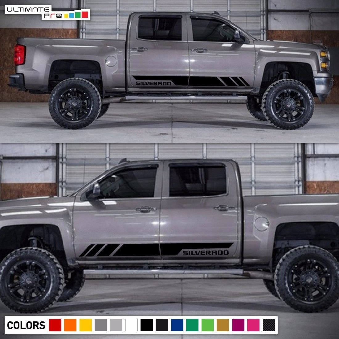 Bubbles Designs Decal Sticker Side Stripes Set For 2015 Chevy Silverado Truck Accessories Chevrolet 2014 2017 Automotive