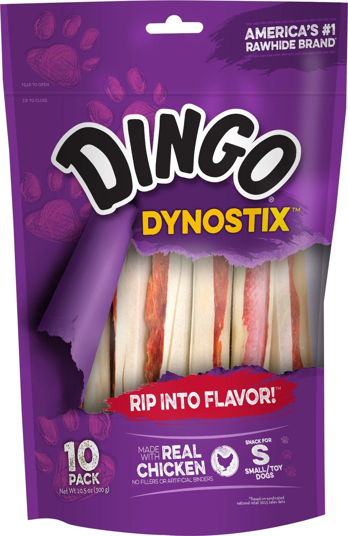 Dingo 99043 60 count Dynastic Rawhide Treats 10.58 Oz, One Size