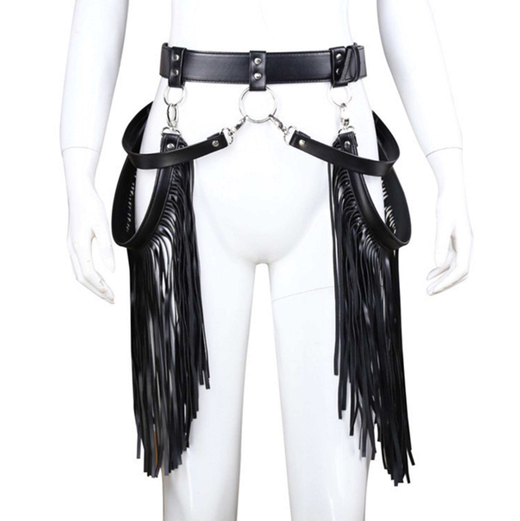 mywaxberry Faux Leather BDSM Sexy Erotic Restraint Tassel Decorative Pants Couple Health Products