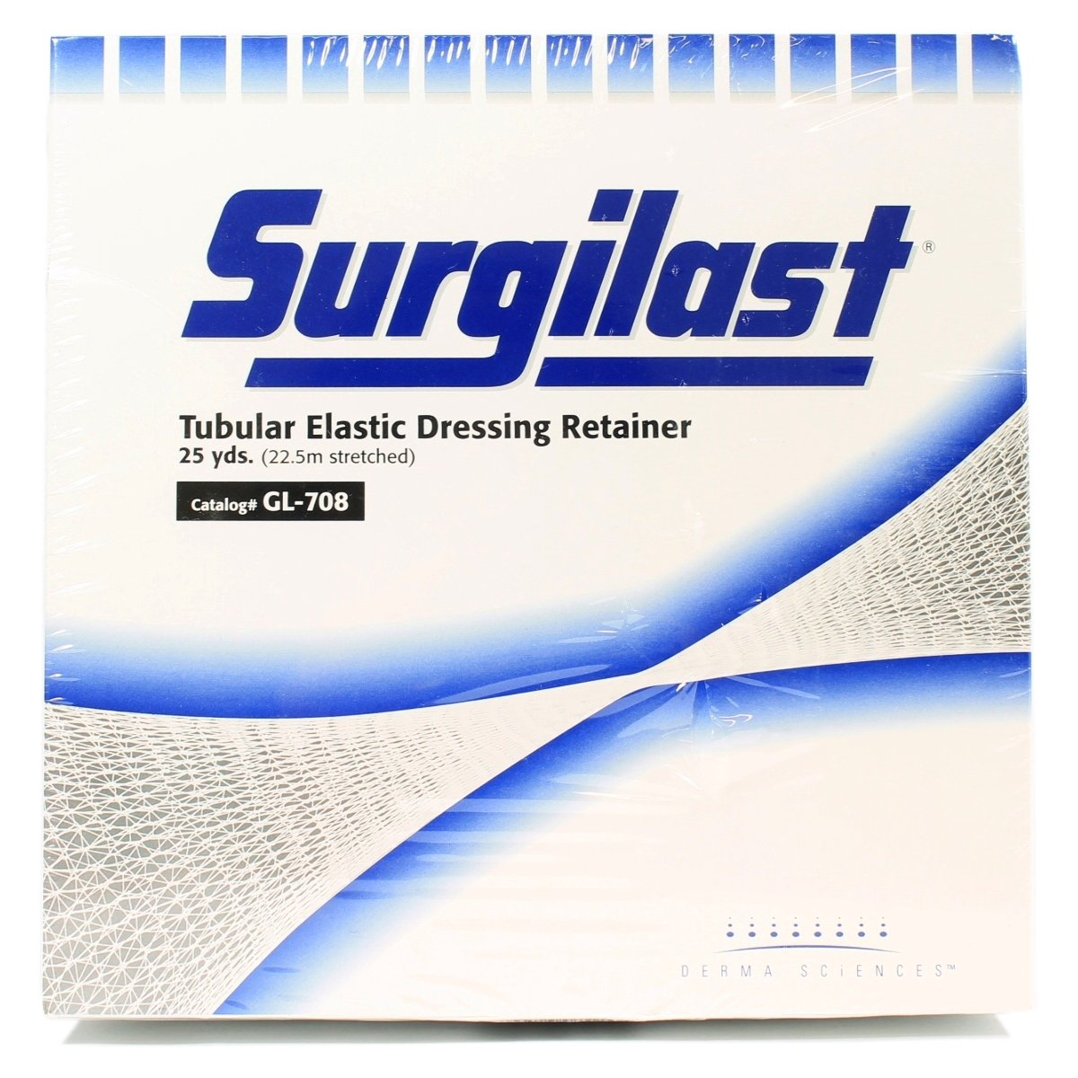 GL708 - Surgilast Tubular Elastic Dressing Retainer, Size 7, 29 x 25 yds. (Small: Chest, Back, Perineum and Axilla)