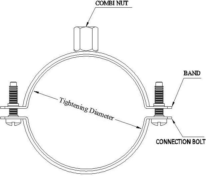 5 x 20 24 mm-serrage 1//2 pour les supports de tuyauterie schraubrohrschelle sanitaire de la zone iL-bi /®