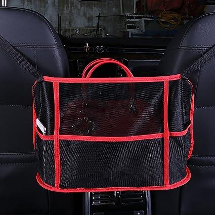 Amazon Com Blue Net Universal Car Seat Storage Mesh Car Organizer