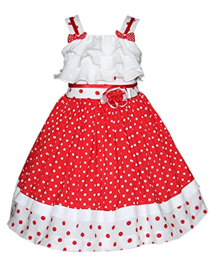 a433e7facb9 Amazon.com  Baby Girls Red Summer Dress Polka Dots Twirly Skirt Disney  Pictures  Clothing
