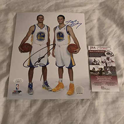 442d183c7f8 Stephen Curry Seth Curry Dual Autographed Signed 8x10 Golden State ...