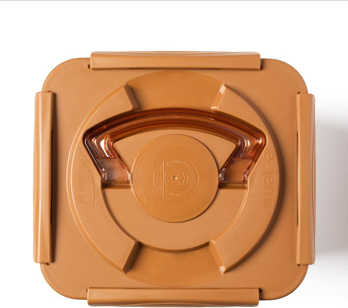 0.4 Gal Sandy Brown Sauerkraut Fermentation and Storage Container with Inner Vacuum Lid Crazy Korean Cooking Premium Kimchi 1.7L