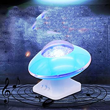 WYMI Orador ovni proyección Romantico Luces Aurora Boreal lámpara ...