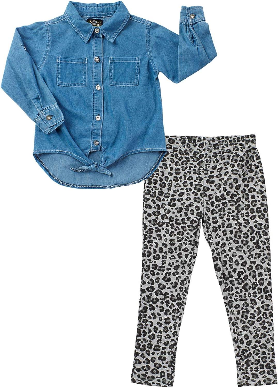 Toddler /& Little Girls My Destiny Girls 2-Piece Legging Set with Denim Top