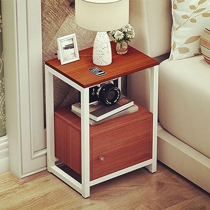 Comodino semplice Mount mini comodino Camera da letto semplice ...