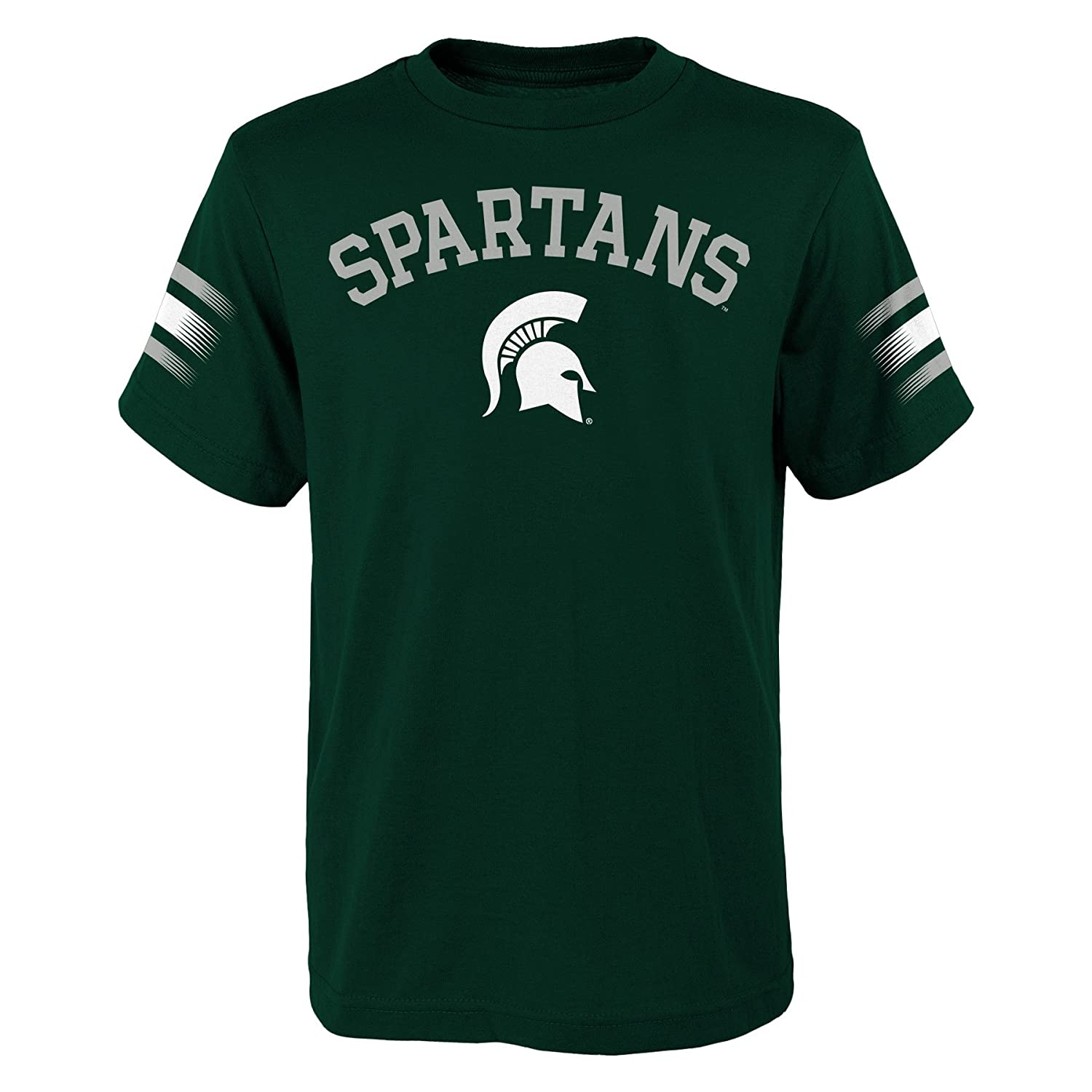 18 Hunter Green NCAA by Outerstuff NCAA Michigan State Spartans Youth Boys First Line Dri-Tek Short Sleeve Tee Youth X-Large