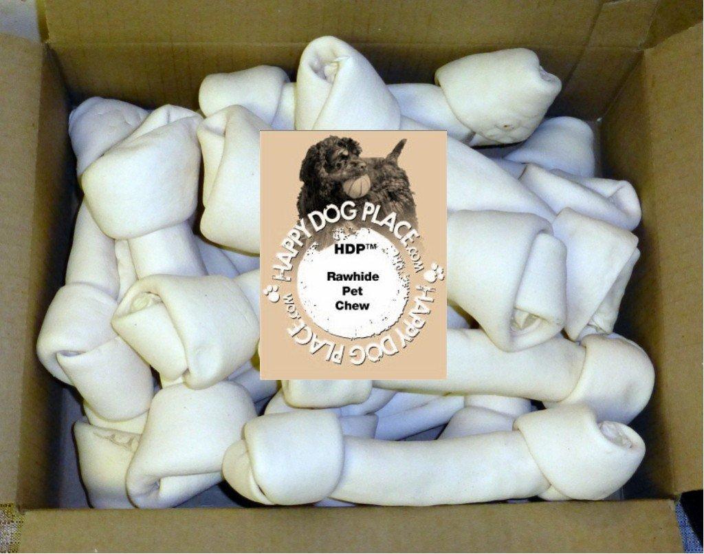 HDP Premium Natural Rawhide Bones 8-9'' Size:Pack of 15