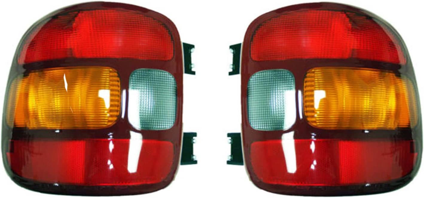 Rareelectrical NEW TAIL LIGHT PAIR COMPATIBLE WITH GMC SIERRA 1500 STEPSIDE BED 1999-03 15224277 19169012 15224276 19169013 GM2801136 GM2800136