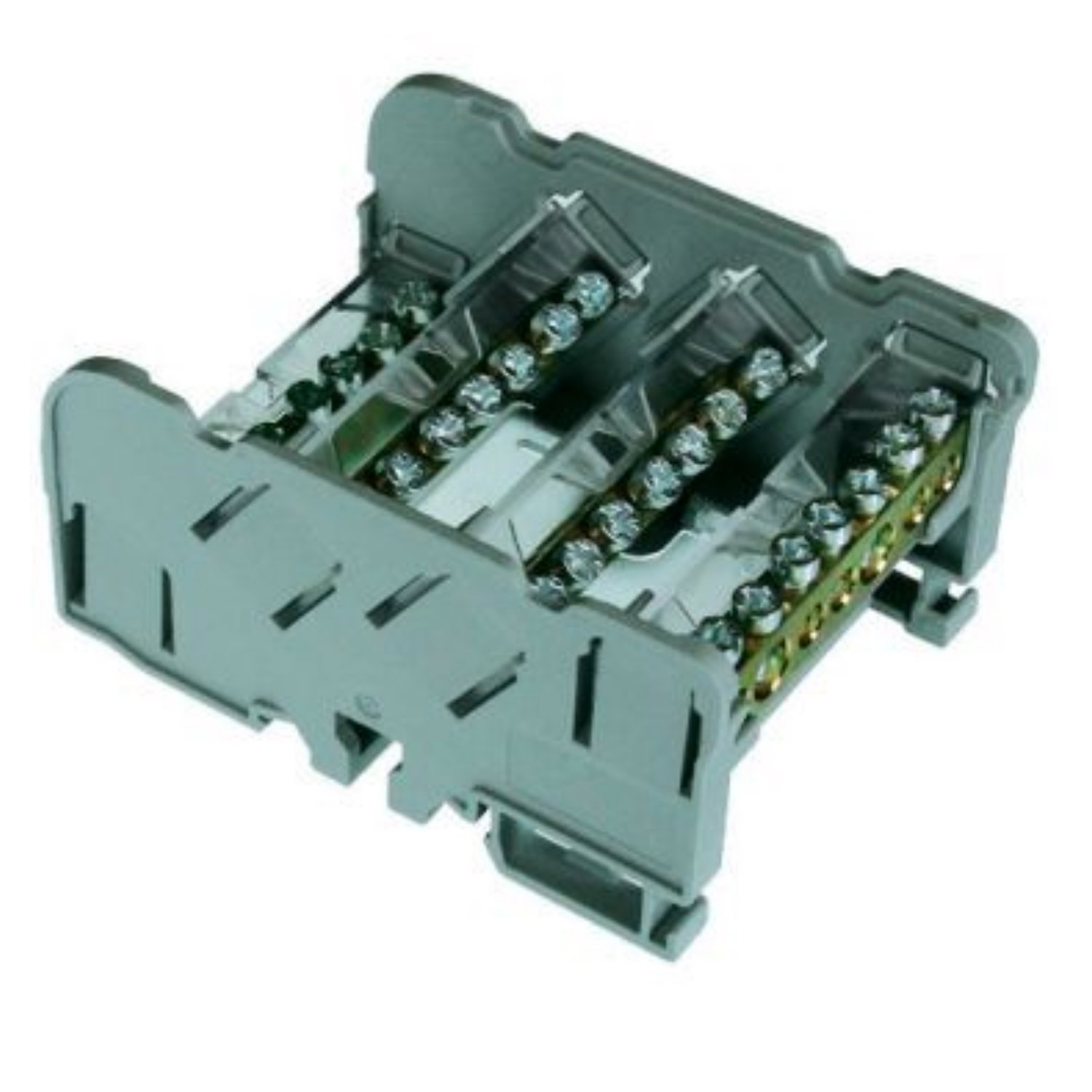 ASI QBLOK4125 Power Distribution Module, 4 Busbars, 125 Amp, 500V, 11 Connections