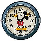 セイコー クロック 掛け時計 ミッキーマウス アナログ 防塵型 金属枠 大人ディズニー 青 FS504L SEIKO