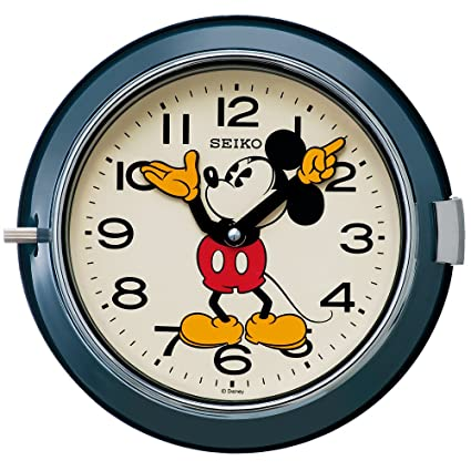 SEIKO CLOCK Disney Mickey Mouse quartz wall clock (steel-blue paint) FS504L