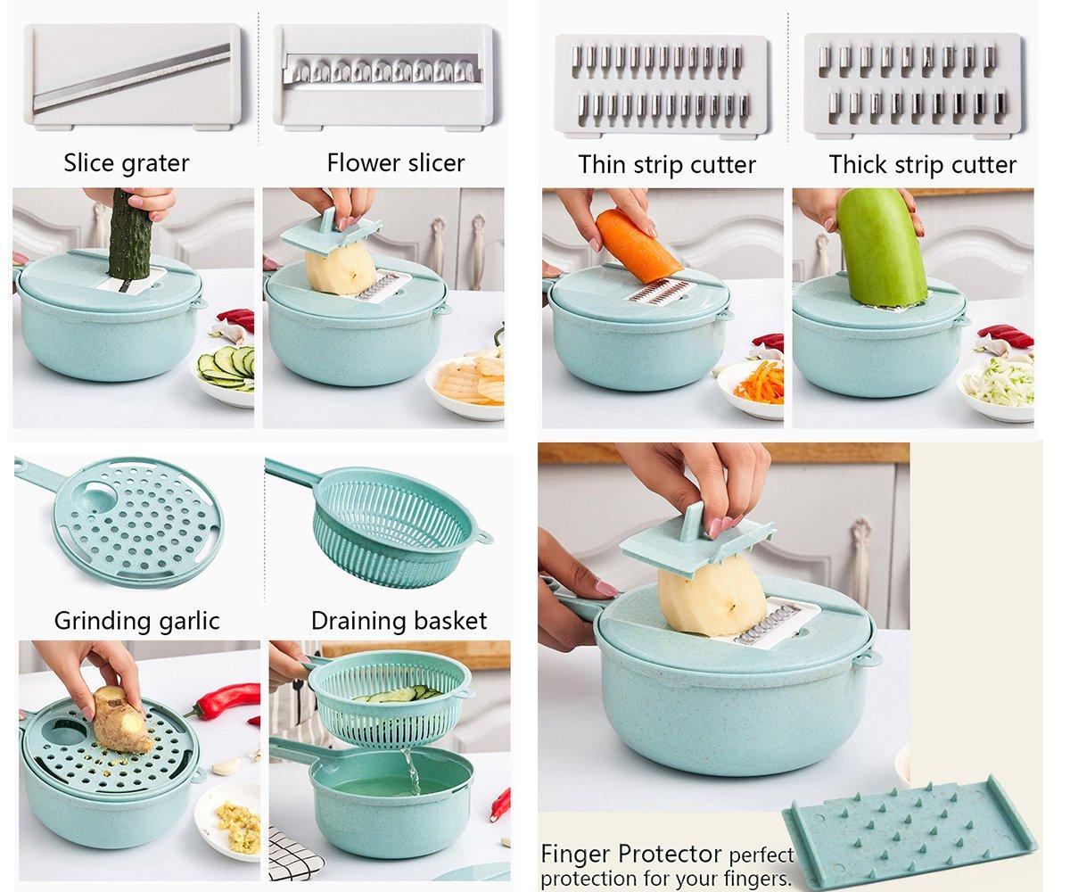 Amazon.com: Vegetable Egg Slicers Cutter Fruit Basket Cover Ginger ...