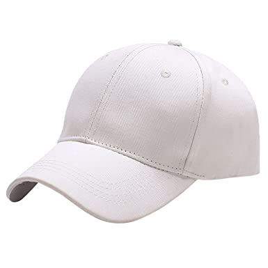 Yidarton Casquette de Baseball Snapback Hip Pop Couleur Unie Ajustable Golf  Hat Motorcycle Trucker Cap - Homme Femme (Blanc)  Amazon.fr  Vêtements et  ... c2165159b9a
