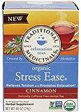 Traditional Medicinals Tea Cinnamon Stress Ease Organic, 16 ct