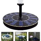COSSCCI Solar Fountain Pump Bird Bath,1.4w Portable Submersible Free Standing Solar Outdoor Fountain for Small Pond, Patio Garden