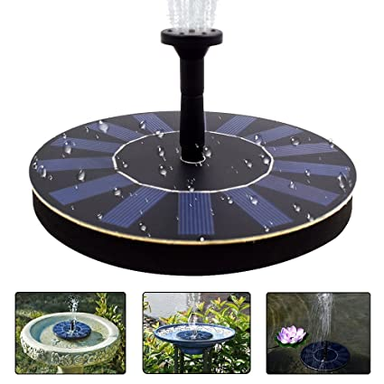 COSSCCI Solar Powered Water Fountain Pump Portable Submersible Free  Standing For Bird Bath, Small Pond
