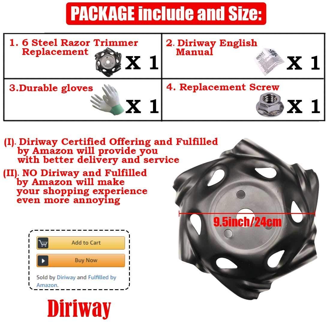 Amazon.com: Diriway - Cabezal de recortadora para exteriores ...