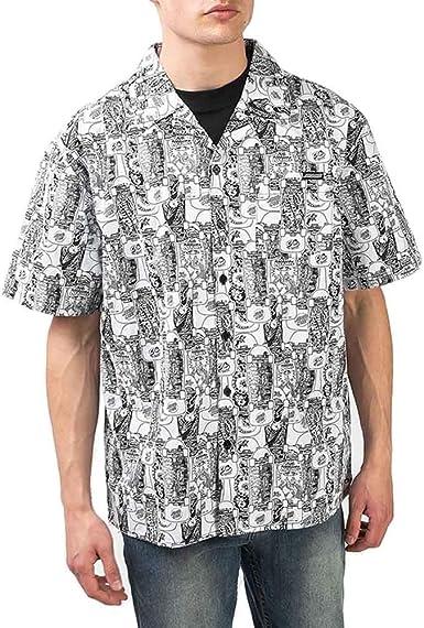 Santa Cruz Camisa Manga Corta Kendall Catalog Negro: Amazon ...