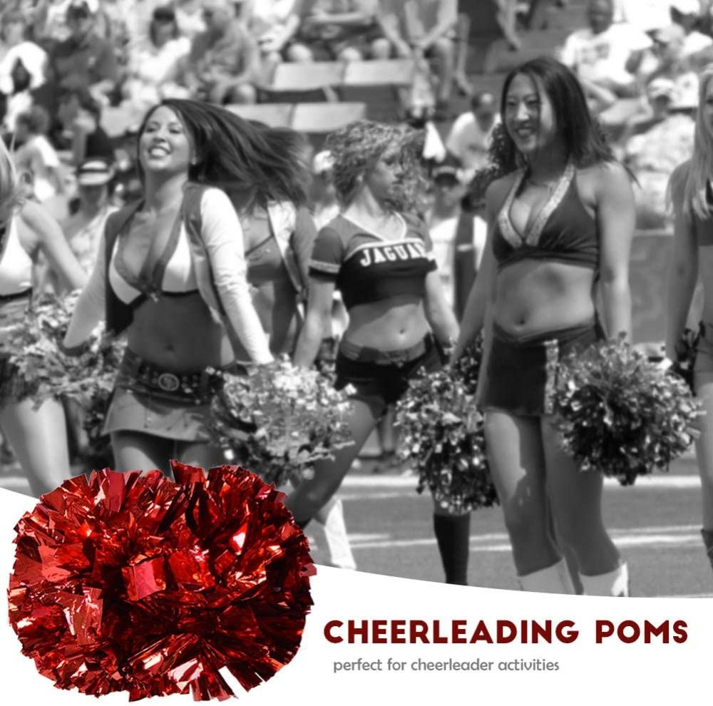 Aerobics Cheerleading Girl Dancing Pompoms for Holiday Party School Stage Performance Sports Competition Yosoo Cheerleader Pompons Red