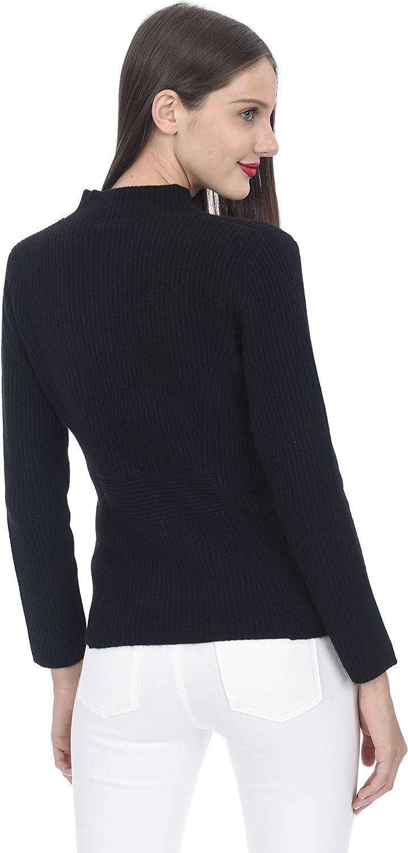 State Cashmere Cardigan con Bottoni e Tasche 100% Cashmere da Donna Black