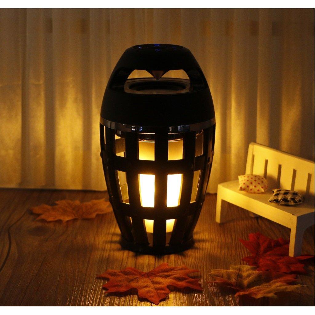 GaoCold Led Flame Lamp Bluetooth Speaker BT4.2 Atmosphere Soft Light Outdoor Portable