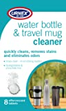 Urnex Water Bottle Travel Mug Cleaner Tablets - Insulated Stainless Steel, Plastic Water Bottle, Wine or Beer Bottles, Narrow Neck Bottle, Cleaner Biodegradable and Phosphate Free