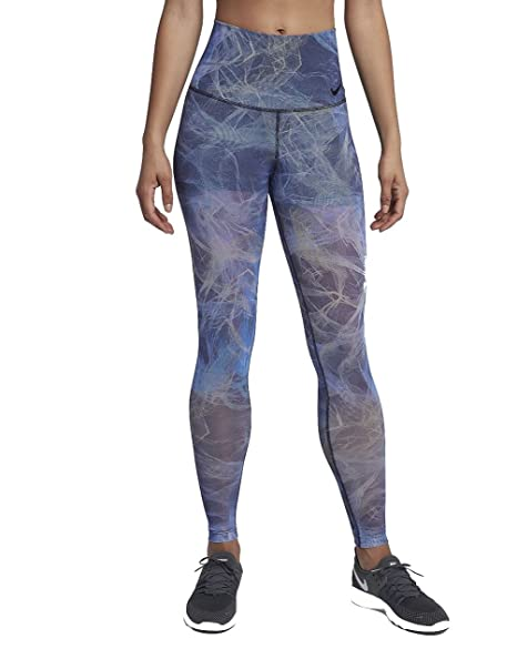 9818abca9ee9a Nike Womens Power Printed Fitness Workout Athletic Leggings