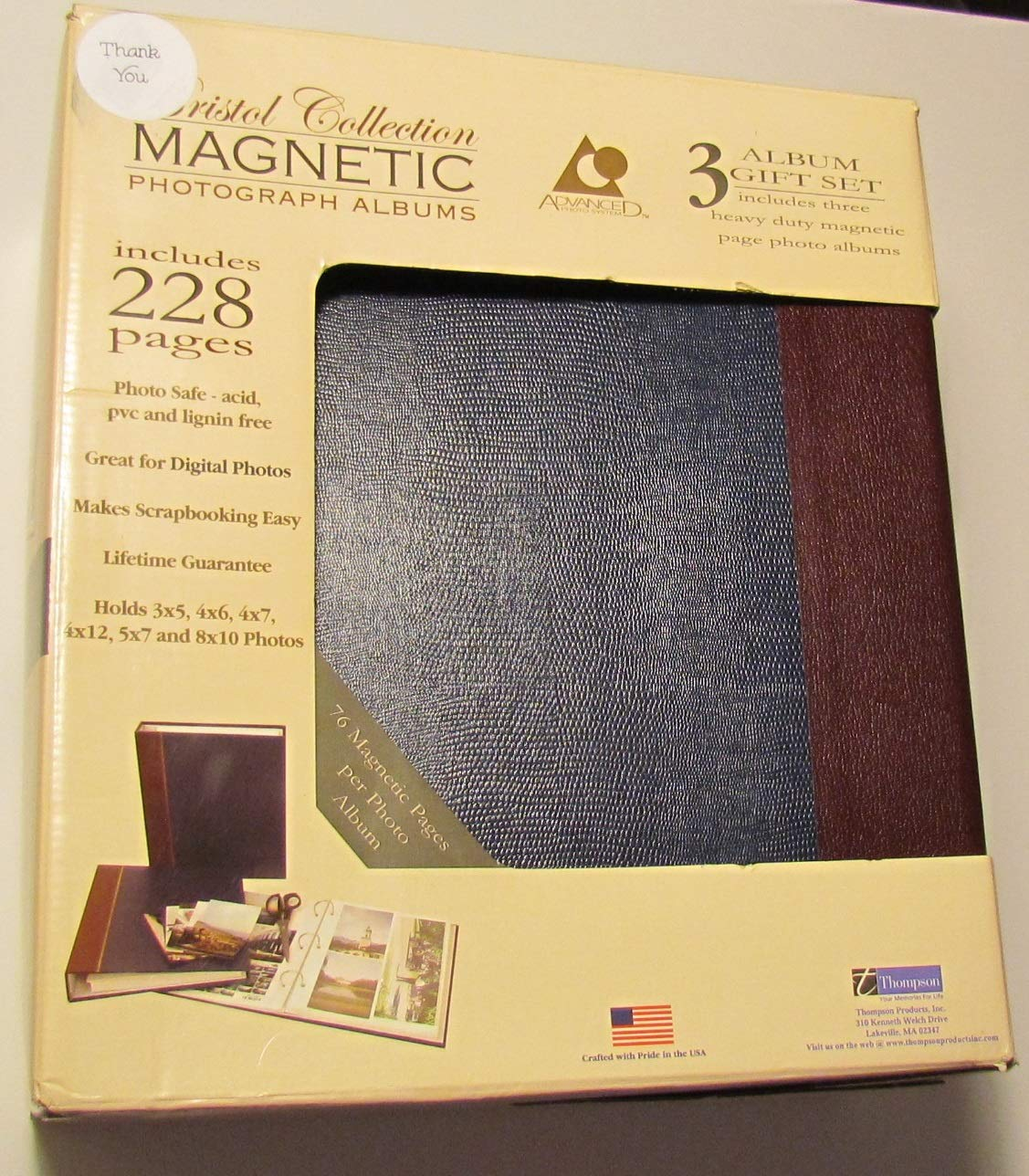 Thompson Bristol Collection Photo Albums Set of 3 228 Pages by Thompson