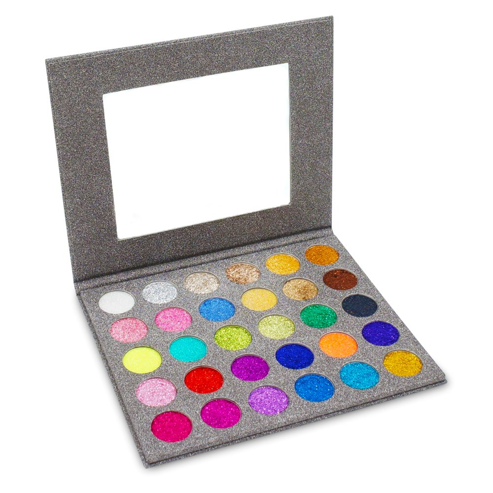 miskos prensado con purpurina sombra de ojos paleta 30colores pigmentada long-lating laminado Mineral Shimmer Powder Sombra de Ojos Paleta Kit de maquillaje resistente al agua GuangzhouBaose