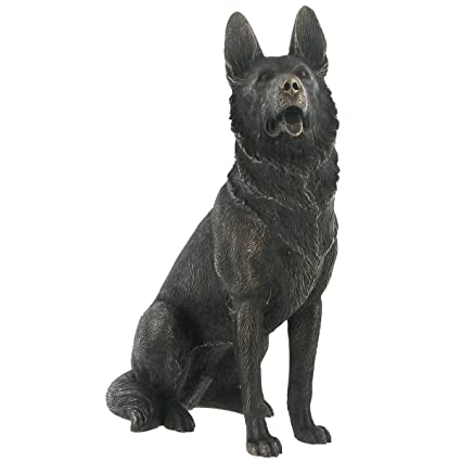 U0027German Shepherdu0027 Cold Cast Bronze Statue H17cm By Fiesta Studios