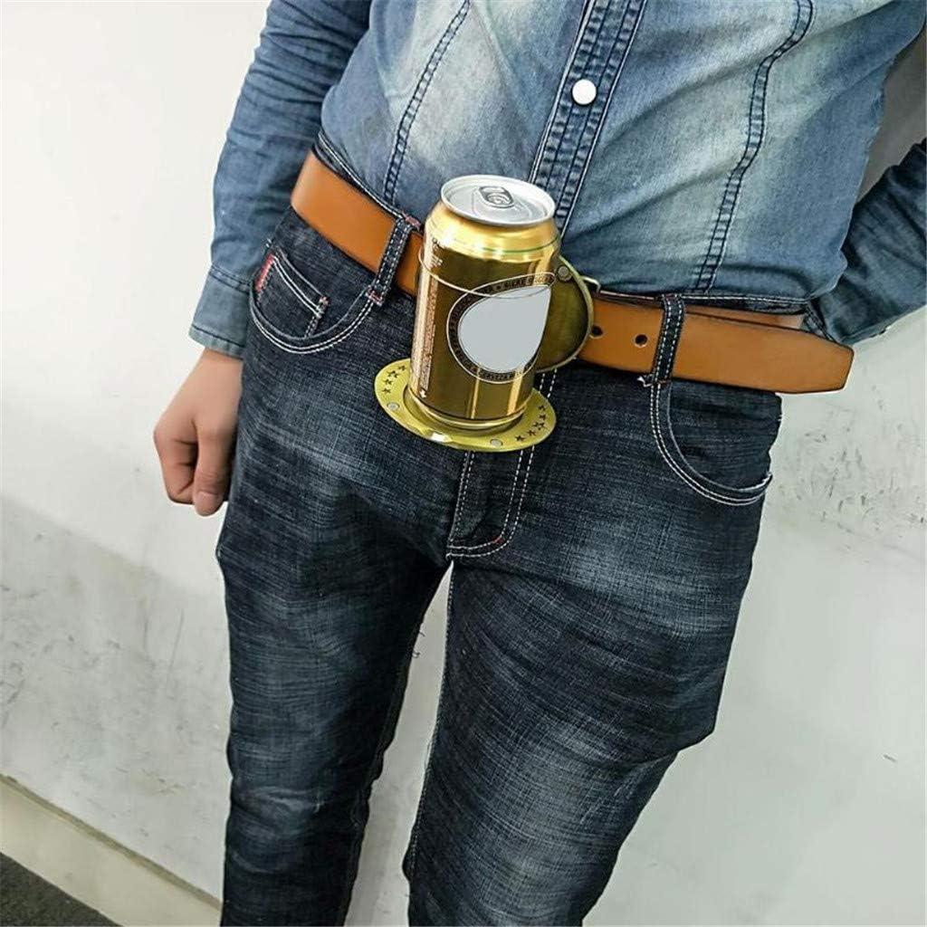 Metal Beer Head Belt Funny Bottle Buckle for Camping Can Holder