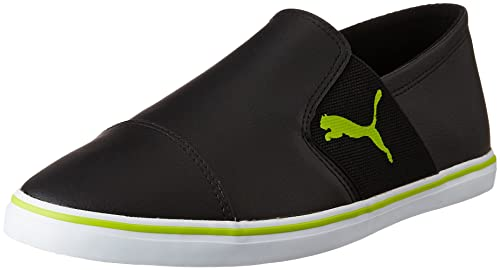 b88630105c5af8 Puma Men s Elsu V2 Slip On Sl Idp Puma Black and Limepunch Sneakers - 11 UK