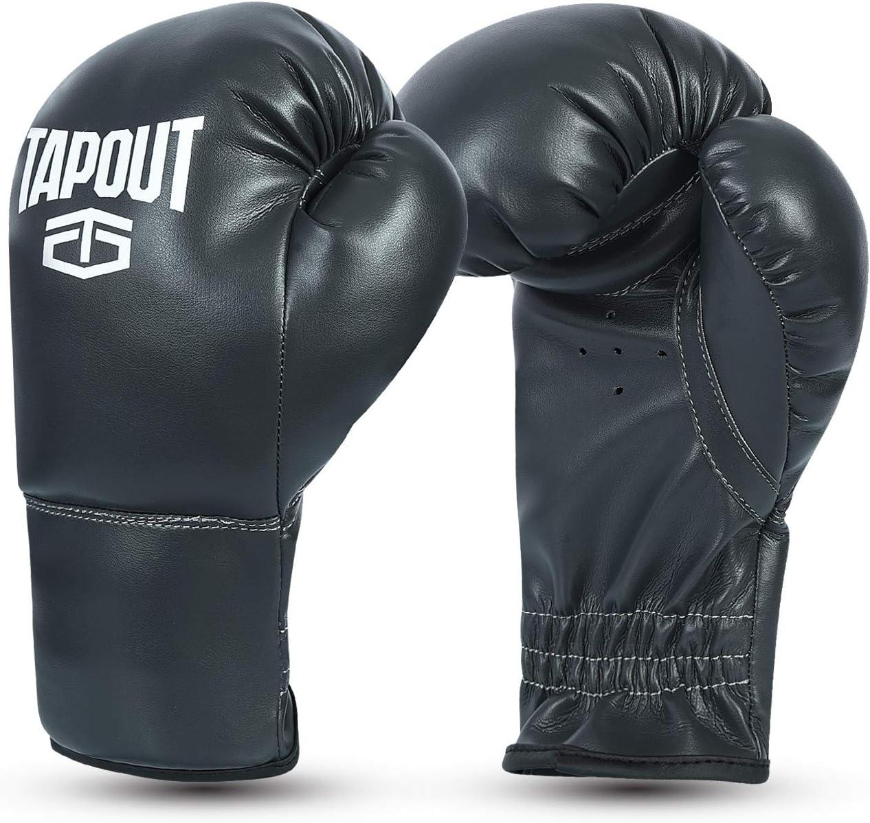 Tapout Kit Boxeo Guantes Ni/ño Ni/ña y Manoplas Combo Conjunto Entrenamiento PU Principiante Kids Junior Trainer