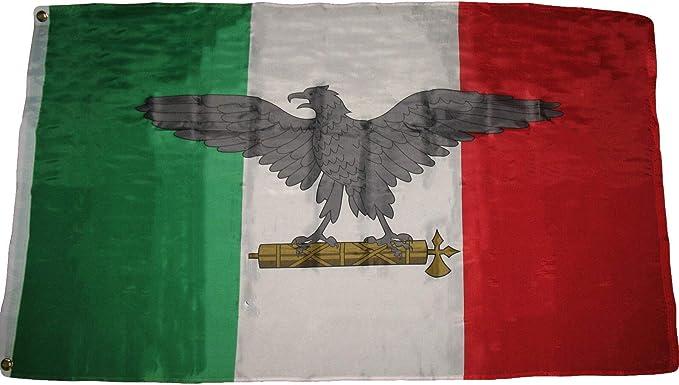 Trade Winds 3 x 5 Italia Guerra Italiana fascista WW2 Eagle Premium Calidad Bandera 3 x5 House Banner Premium Resistente a la decoloración: Amazon.es: Jardín