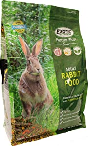 Pasture Plus+ Adult Rabbit Food (10 lb.) - Nutritionally Complete Healthy Natural Pellet Diet - for Adult Rabbits 12 Months & Older