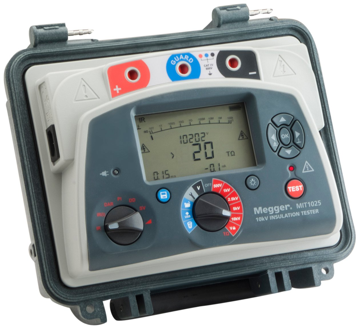 Megger Mit1025 Us Insulation Tester With Output 20 Teraohms Resistance 10kv Multi Range Test Voltage Insulation Resistance Meters Amazon Com Industrial Scientific