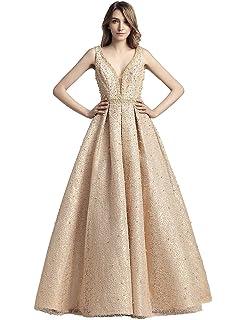 Sarahbridal Womens Long Sleeve Wedding Prom Dresses Chiffon Beaded Evening Party Dresses SLX425