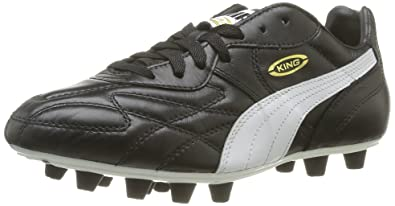 3f932513de42 Puma King Top Ifg - Chaussures de Football - Homme - Noir (Black-white