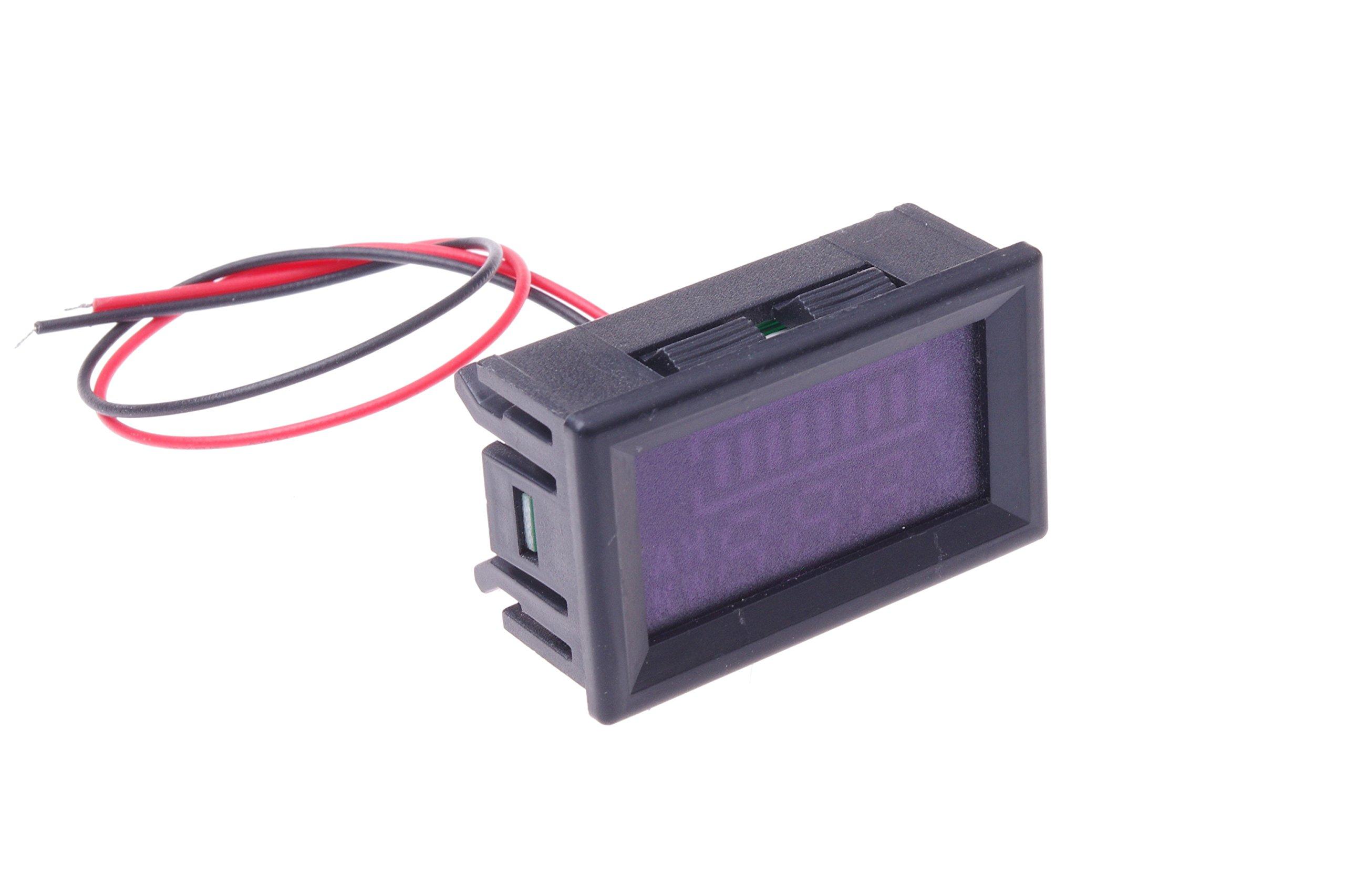 SMAKN DC 12v 24V 36V 48V 60V 72V 96V Acid lead batteries percentage capacity indicator LED Tester voltmeter With TTL OUTPUT by SMAKN (Image #6)